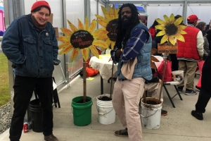 Sowing Place artist facilitators Laura Brown-Lavoie and Vatic Kuumba lead the collaborative in creative cross-sector planning