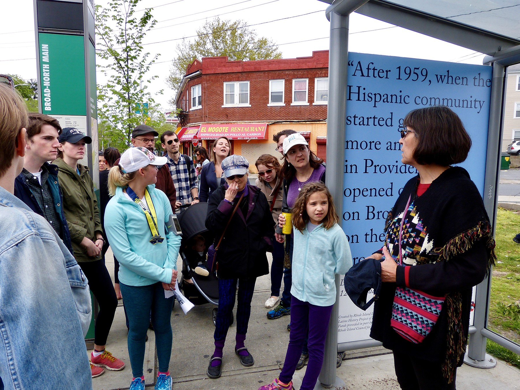 Marta Martinez leads a tour of Broad Street cultural heritage