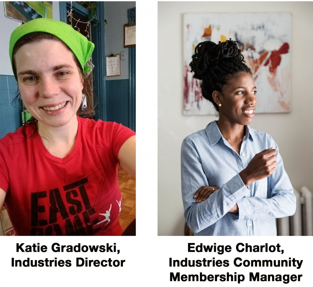 AS220 new hires Katie Gradowski and Edwige Charlot