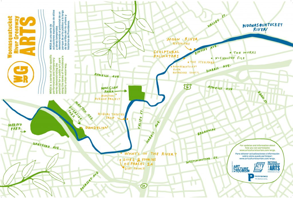 Woonasquatucket River Greenway Arts Project Map by Julia Gualtieri