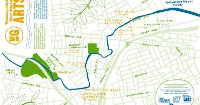 Woonasquatucket River Greenway Arts Project Map by Julia Gualtieri
